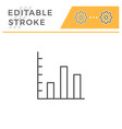 bar chart editable stroke line icon vector image vector image