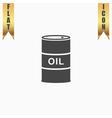 barrels of oil icon vector image