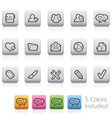 Blog Icons vector image vector image