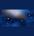 blue night starry sky cosmic galaxy space vector image