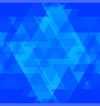 bright blue and celestial triangles in the vector image vector image