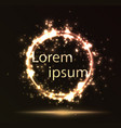 burning circle on dark background vector image