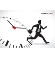 business man beating the clock vector image vector image