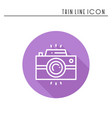 camera line outline icon photo camera photo vector image vector image