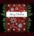 christmas banner or postcard with fir star vector image