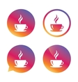 coffee cup sign icon hot button vector image vector image