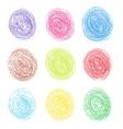 Color pencil round spots vector image vector image