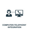 computer-telephony integration icon symbol vector image vector image
