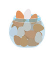 container with eggs isolated icon vector image