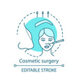 cosmetic surgery concept icon vector image vector image