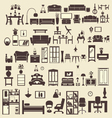 creative design furniture icons set interior- illu vector image vector image