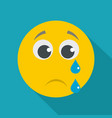 cry smile icon flat vector image