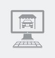 dealer online on computer page vector image