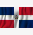 dominican republic realistic waving flag vector image