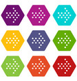 dots right arrow icons set 9 vector image vector image