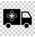 drone delivery van icon vector image vector image