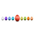 easter egg 3d icons color eggs set isolated white vector image vector image