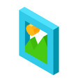 gallery icon for mobile devices isolated 3d vector image