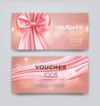 gift voucher design template set of premium vector image