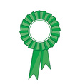 Green award ribbon vector image vector image