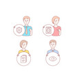 handout washing machine and approved shield icons vector image vector image