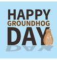 Happy groundhog daylogoiconcute groundhog is vector image