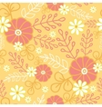 Hot flowers seamless pattern background vector image