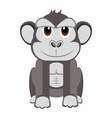 isolated cute gorilla vector image vector image