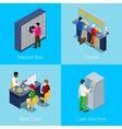 Isometric Bank Services Concept Deposit Box vector image