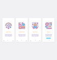 kid toys ux ui onboarding mobile app page screen vector image