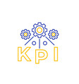 kpi line icon isolated on white vector image vector image