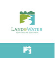 land and water environmental logo vector image vector image