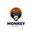logo spunky monkey mascot cartoon style vector image vector image
