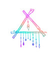 magic indian dreamcatcher hand drawn vector image vector image