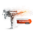 male athlete is kicking sport dot vector image vector image