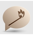 Match sign Brown gradient icon on vector image