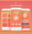 mobile social application design concept vector image vector image