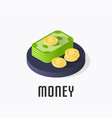 money icon symbol vector image