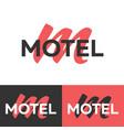motel logo letter m logo logo template vector image vector image
