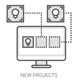 New projects line infographic vector image vector image