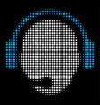 operator head halftone icon vector image