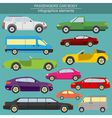 Passenger car transportation infographics