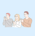 people clapping hands concept