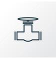 pipeline icon line symbol premium quality vector image vector image