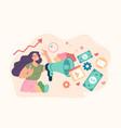 pr management smm successful business social media vector image