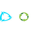 recycle icon on white background vector image vector image