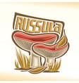 russula mushrooms vector image vector image