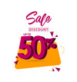 sale discount up to 50 template design vector image vector image
