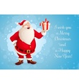 Santa Claus with Christmas vector image vector image