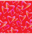 seamless background with flying heartstransparent vector image